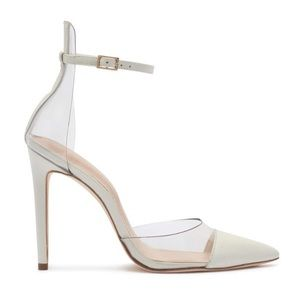 Also white clear heels